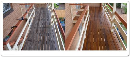 Timber verandah restoration before & after