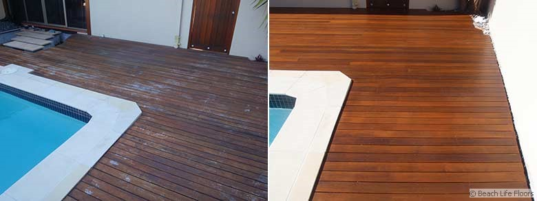 Poolside deck restoration