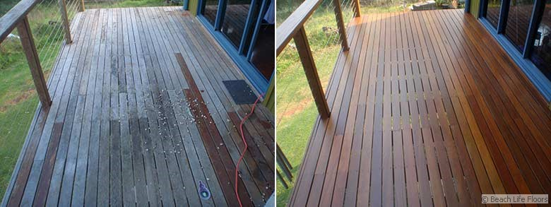 Deck sanding and restoration