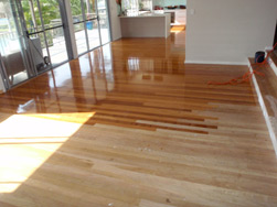 Builders extension old and new floors come together in a difficult transition for a floor sander and polisher!