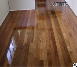 Timber floor sanding polishing after